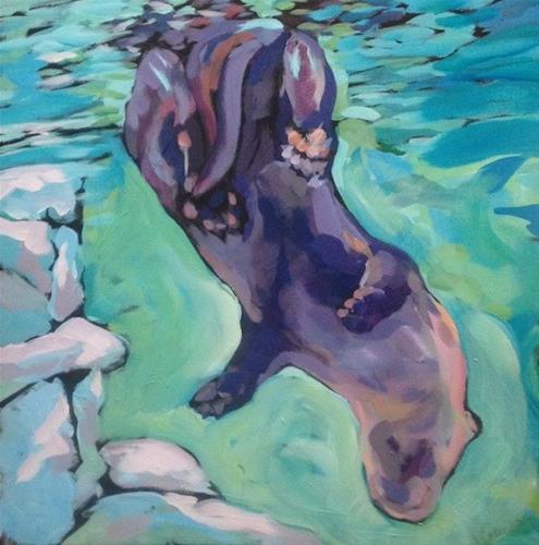 """""""Bottoms Up"""" original fine art by Kat Corrigan"""