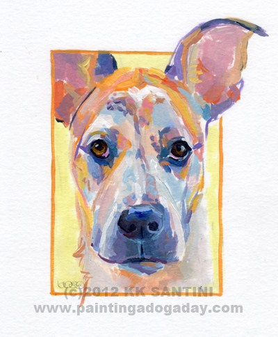 """Weston, A Painted Sketch"" original fine art by Kimberly Santini"