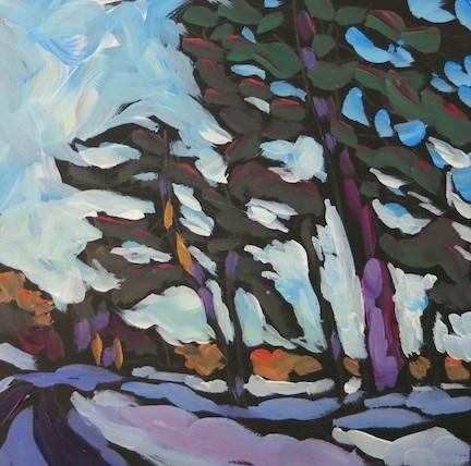 """Windswept Cedars"" original fine art by Kat Corrigan"