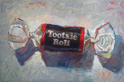 """Tootsie Roll (The Larger)"" original fine art by Raymond Logan"