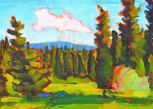 """Idaho Landscape Painting"" original fine art by Kevin Inman"