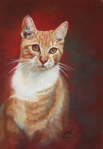 """Kitty"" original fine art by Ruth Mann"