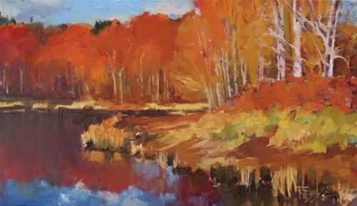 """Pt. White Estuary  Bainbridge Island, plein air landscape painting by Robin Weiss"" original fine art by Robin Weiss"