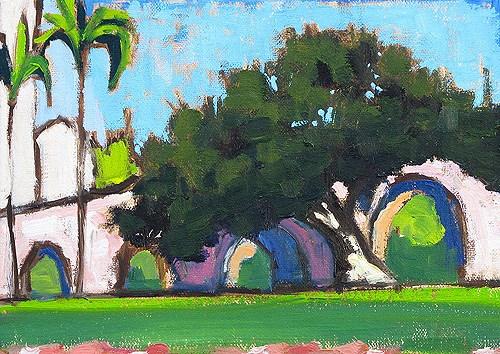 """""""Balboa Park, San Diego Plein Air"""" original fine art by Kevin Inman"""
