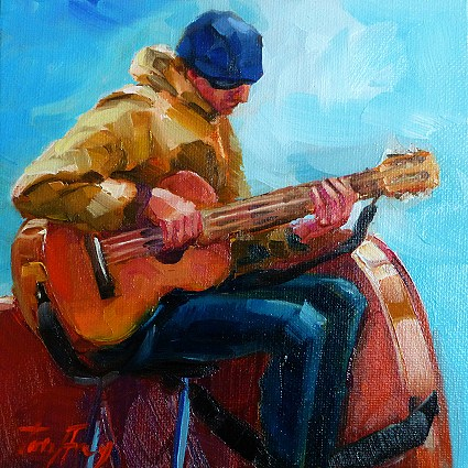 """Musiker"" original fine art by Jurij Frey"