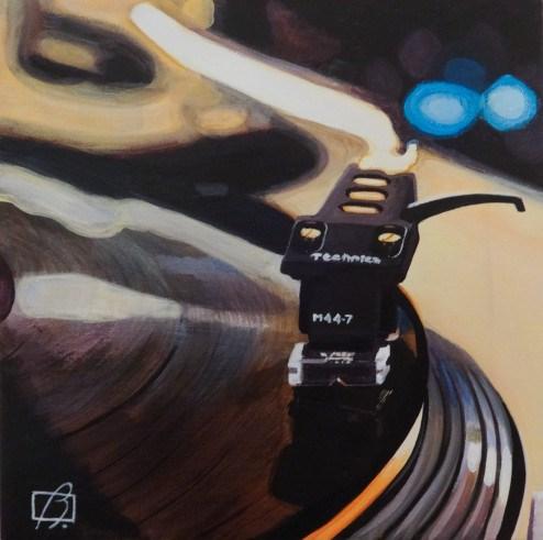 """Platine vinyle"" original fine art by Andre Beaulieu"