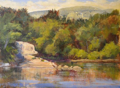 """Morning Light at Catskill Creek"" original fine art by Jamie Williams Grossman"