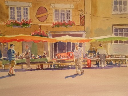 """Market Stalls. Stow"" original fine art by Graham Findlay"