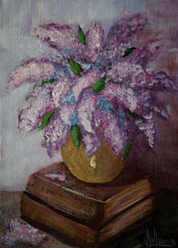 """Lilacs"" original fine art by Sunny Williams"