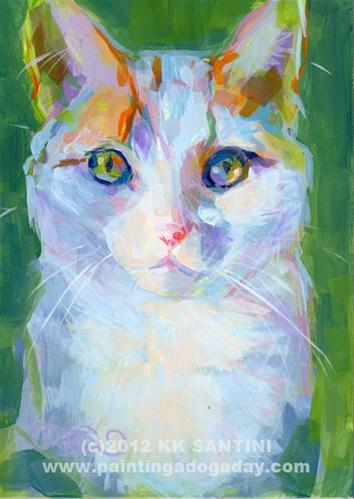"""Mia"" original fine art by Kimberly Santini"