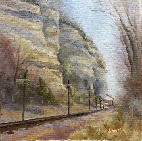 """Cliff Cave Park 1-en plein air"" original fine art by Veronica Brown"