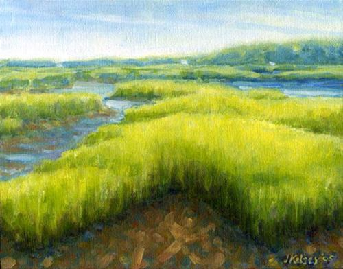 """Essex Marsh"" original fine art by J Kelsey"