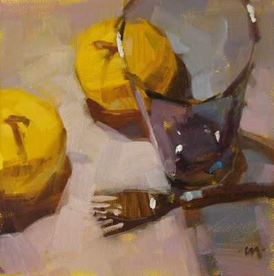 """""""See Thru Blue & Hide the Bodies"""" original fine art by Carol Marine"""
