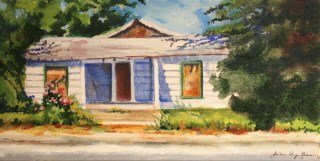 """Great G.ma's House, Texas"" original fine art by JoAnne Perez Robinson"