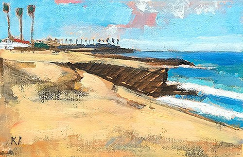 """Sunset Cliffs"" original fine art by Kevin Inman"