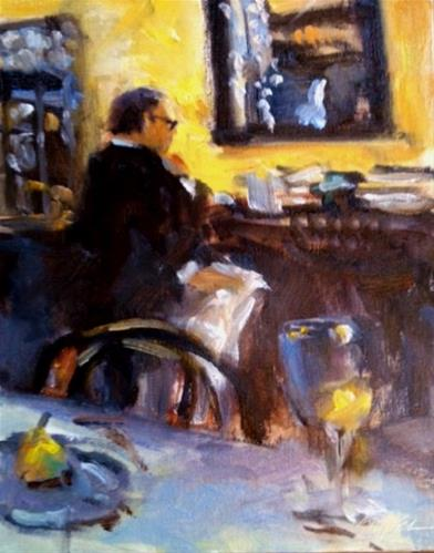 """Relaxing, Can Can. Richmond, Virginia"" original fine art by Connie Snipes"