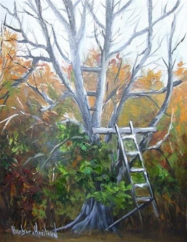 """""""Vrana Deer Blind"""" original fine art by Barbara Haviland"""