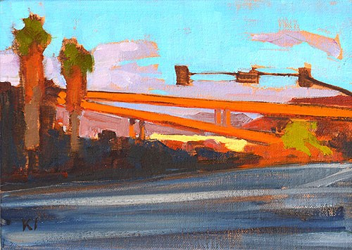 """1-5, Mission Valley"" original fine art by Kevin Inman"