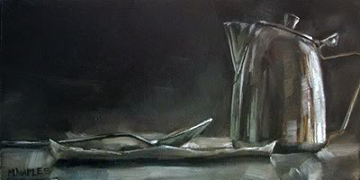 """Chrome Creamer with Spoon No.2"" original fine art by Michael Naples"