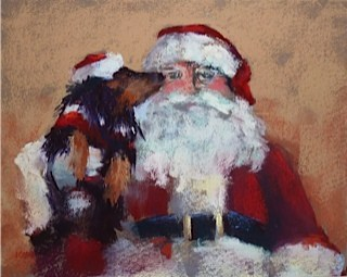 """An Artist's List for Santa"" original fine art by Karen Margulis"