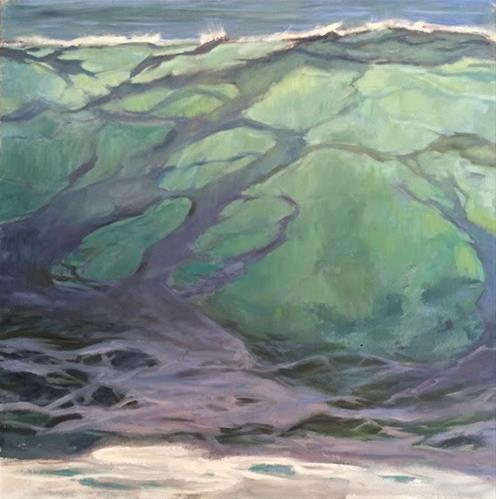 """""""Aqua Crest"""" original fine art by Deborah Newman"""