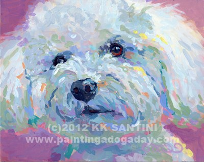 """Buddy"" original fine art by Kimberly Santini"