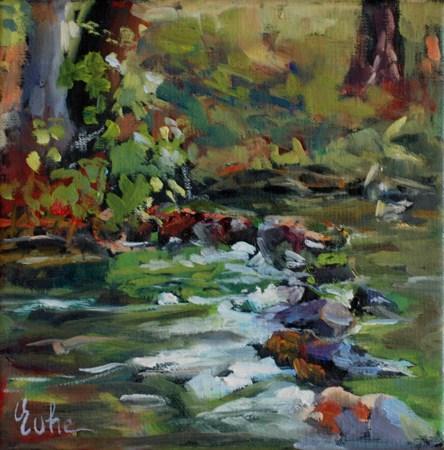 """Au bord de la Sarre"" original fine art by Evelyne Heimburger Evhe"