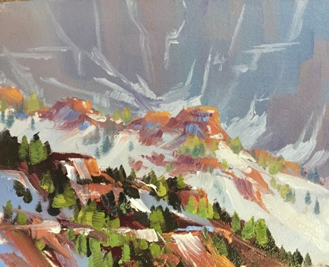 """Kolob Ridges 2"" original fine art by Mary Jabens"