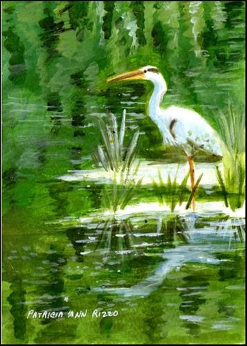 """Blue Heron"" original fine art by Patricia Ann Rizzo"