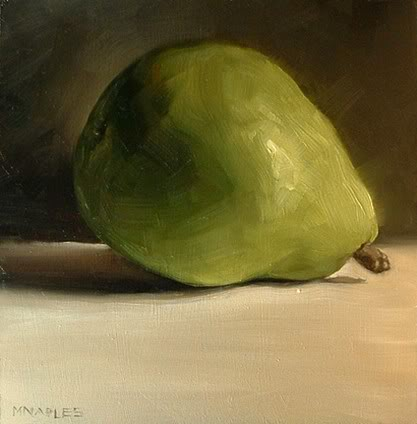 """Resting Pear"" original fine art by Michael Naples"