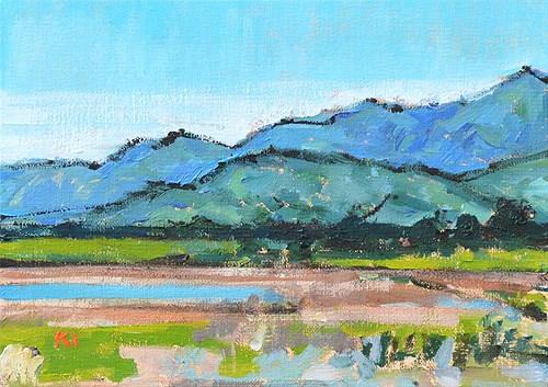 """Carpinteria Landscape Painting"" original fine art by Kevin Inman"