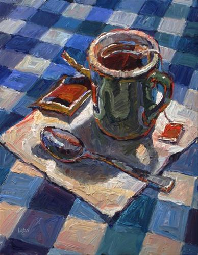 """Mug o' Tea"" original fine art by Raymond Logan"