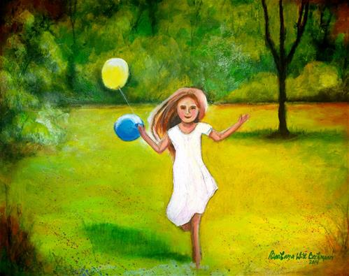 """Childs play"" original fine art by Barbara Beckmann"