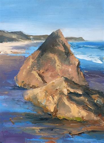 """""""Scotch Beach Rocks"""" original fine art by Whitney Knapp Bowditch"""