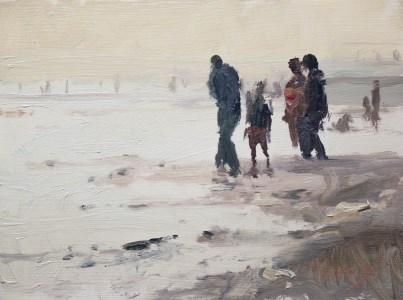 """""""Beach Outing"""" original fine art by Randall Cogburn"""