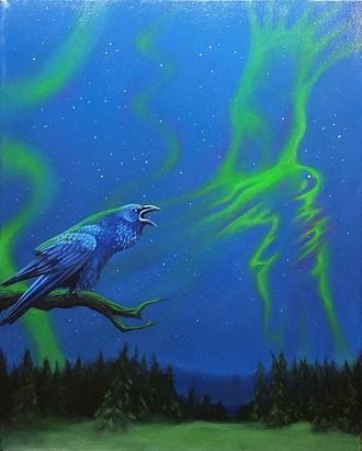 """Raven"" original fine art by Amanda Stacey"