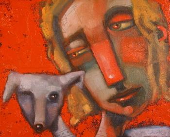 """Me And My Shadow"" original fine art by Brenda York"