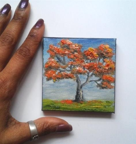 """Fall Tree"" original fine art by Camille Morgan"