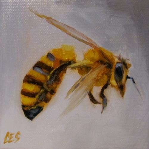 """Honey Bee"" original fine art by ~ces~ Christine E. S. Code"