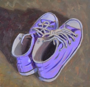 """Erin's Shoes"" original fine art by Robert Frankis"