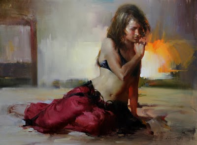 """Figurative Series (Before the performance 2)"" original fine art by Fongwei Liu"