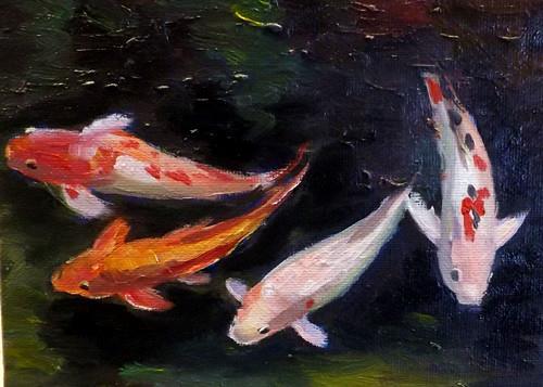 """Fish,M28"" original fine art by Run-      Zhang Zane"