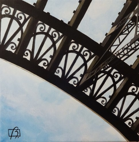 """Eiffel Tower Detail"" original fine art by Andre Beaulieu"