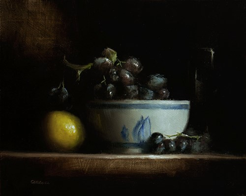 """Bowl of Grapes"" original fine art by Neil Carroll"