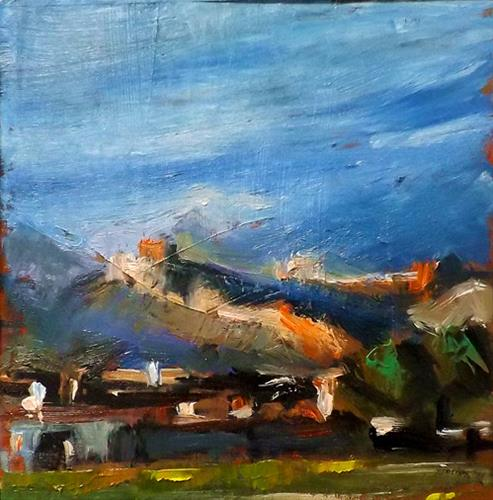 """Tibet,M3"" original fine art by Run-      Zhang Zane"