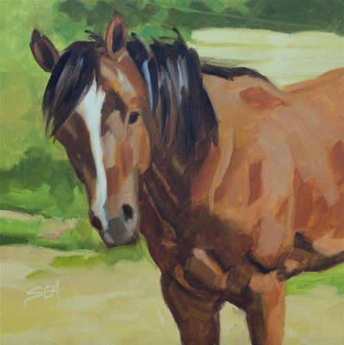 """""""Mac"""" original fine art by Susan Ashmore"""