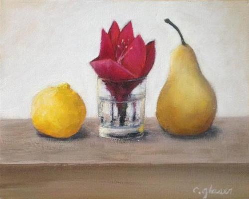 """Amaryllis and Friends."" original fine art by christina glaser"