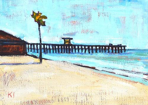 """San Clemente Pier"" original fine art by Kevin Inman"