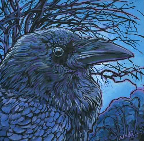 """14/80 Raven"" original fine art by Nadi Spencer"