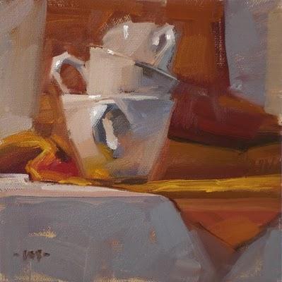 """Nesting Cups"" original fine art by Carol Marine"